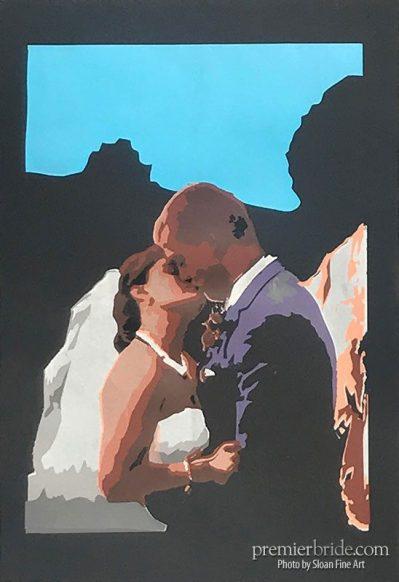 Personalized wedding artwork by Sloan Fine Art