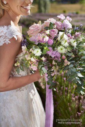 boho style lavender bridal bouquet