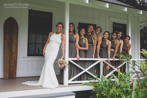 Carissa and her bridesmaids
