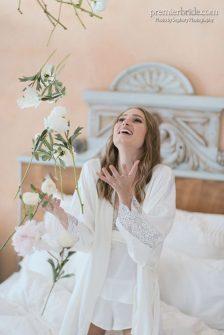 romantic pre-wedding in bed