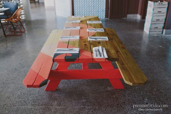 Waikiki hand painted tables by Jeff Gress