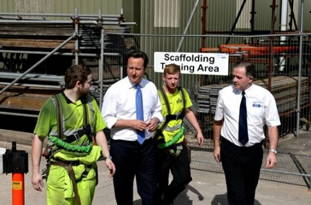 The National Construction College in Birmingham  - Prime Minister- David Cameron