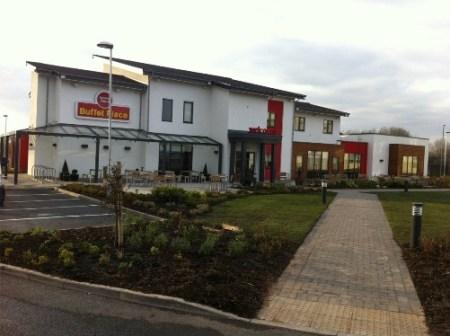Knauf Marmorit- Noblo render system - Fayre Restaurant- Widnes, Cheshire