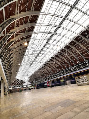 NG Bailey. Location shoot at Paddington Station, London. 17-8-2011, Refurbishing Paddington Station Roof