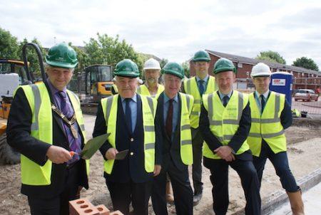 First bricks laid in Birchwood bungalow scheme