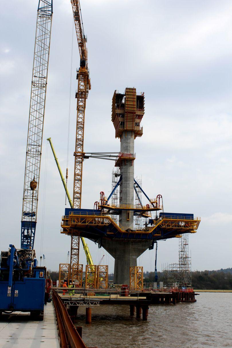 Mersey Gateway Bridge Building Machines Reach New Heights