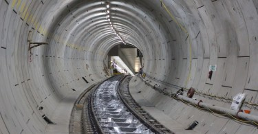 Fit-out of Crossrail tunnels - Royal Oak to Bond Street