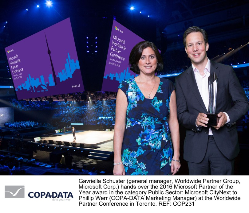 Double Win In Toronto: COPA-DATA Two-Fold 2016 Microsoft Partner of the Year