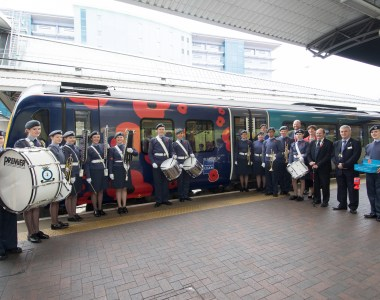 TransPennine Express unveils poppy train