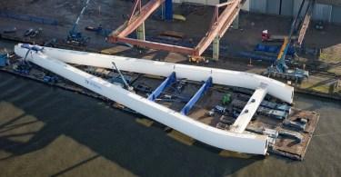 New Wear Crossing centre bridge has begun its slow journey to Sunderland