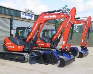 Bison Plant Hire add eight new Kubota machines.
