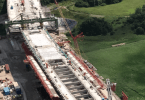 Giant Bridge Building Machine 'Webster' Carries Out Final Concrete Pour