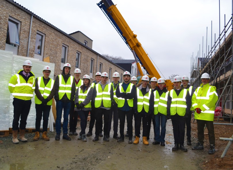 R G Carter Welcomes Construction Students to Sustainable Building Site in Norwich