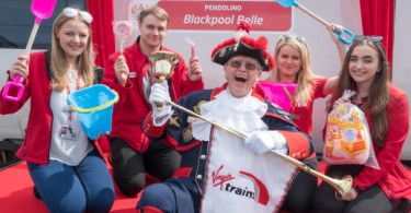 Virgin's Pendolino Train Named Blackpool Belle to Celebrate Launch of Electric Services
