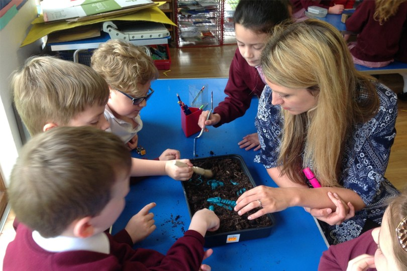 Stonehenge Team Educates Children About Work to Preserve the Past