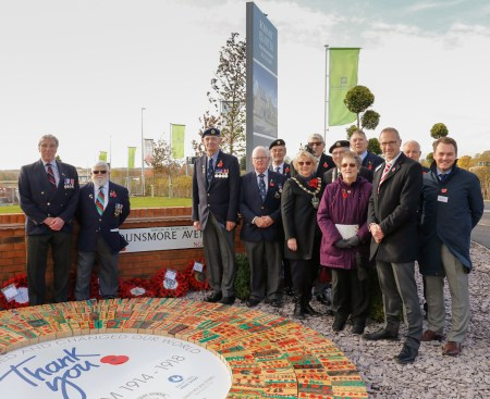 Bingham Development Pays Homage to World War One Centenary with Painted Poppy Bricks and Street Names