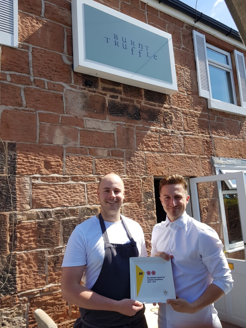 Award-Winning Neighbourhood Bistro, Burnt Truffle, Awarded 2 AA Rosettes