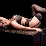 Olivia Sprauer aka Victoria James poses for Hustler