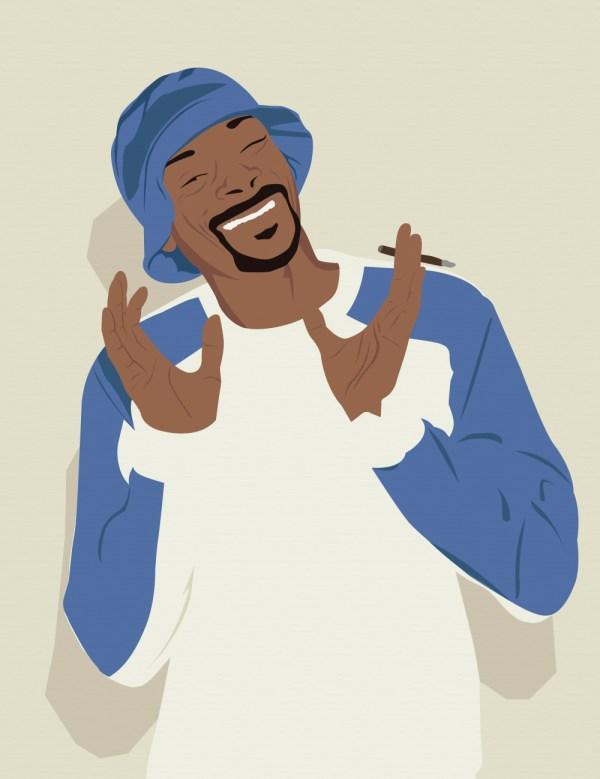 Snoop Dogg art print, Hip-Hop Classic. Première Base