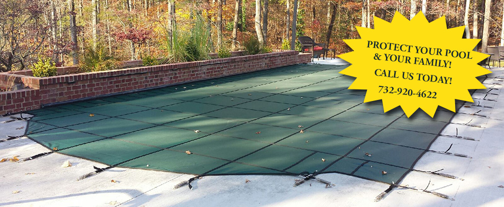 winter safety pool covers, swimming pool liners, swimming pool covers, Howell, NJ, New Jersey, installations, pool service, safety cover installation