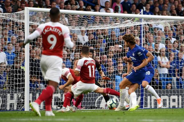 Image result for chelsea 3-2 arsenal 18th august 2018
