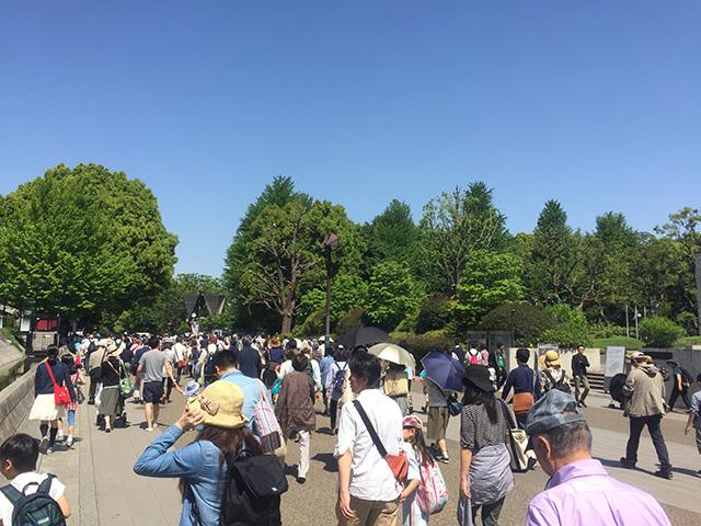上野駅前の人混み