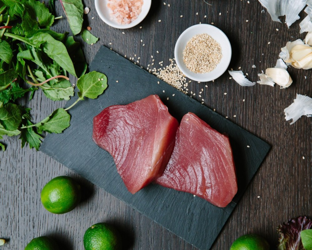 Premier Meat Company Ahi Tuna Raw Fresh never frozen seafood sustainable high quality protein deliveryoneline