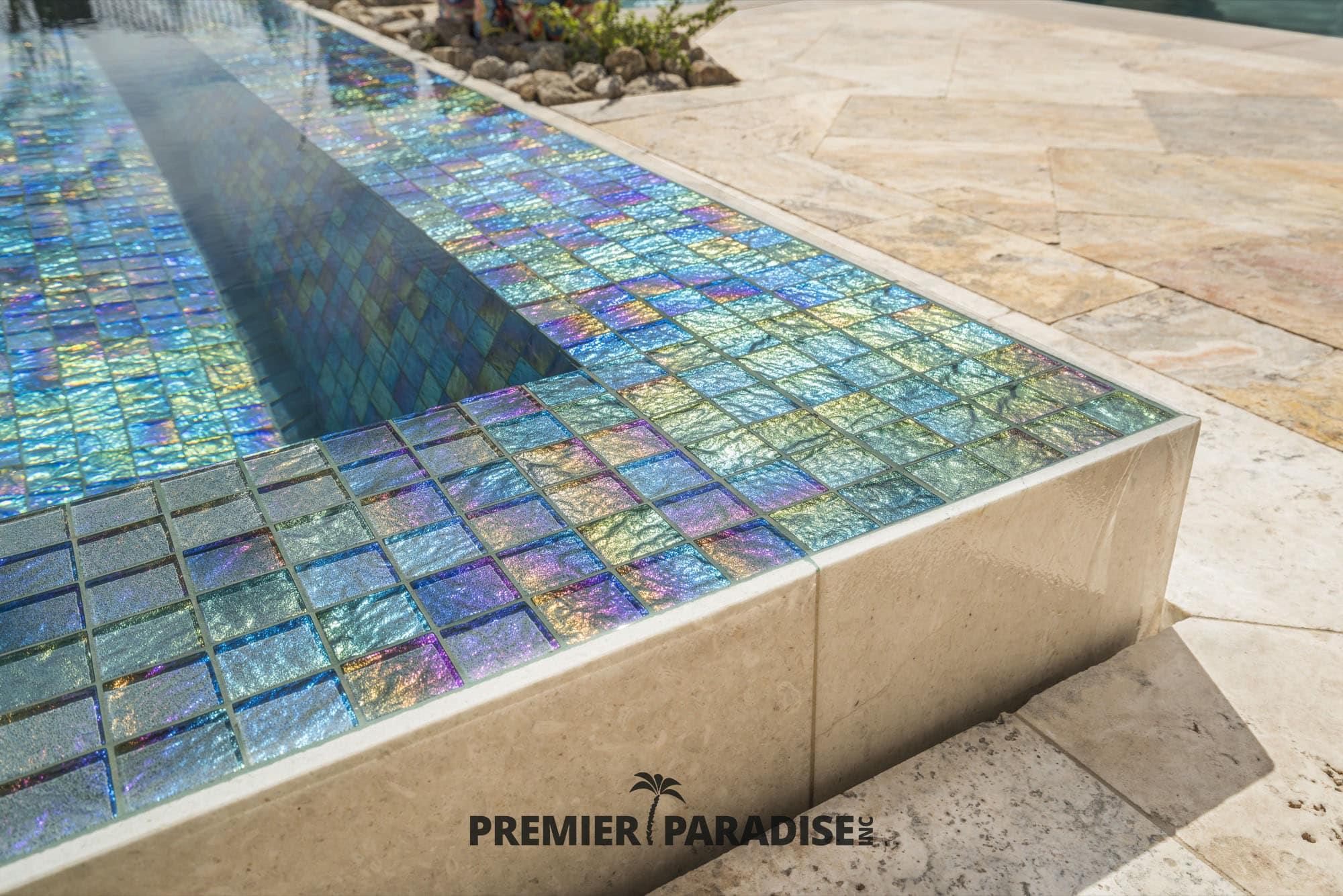 pool builder phoenix custom glass tile spa hot tub design gallery premier paradise inc 9 premier paradise inc