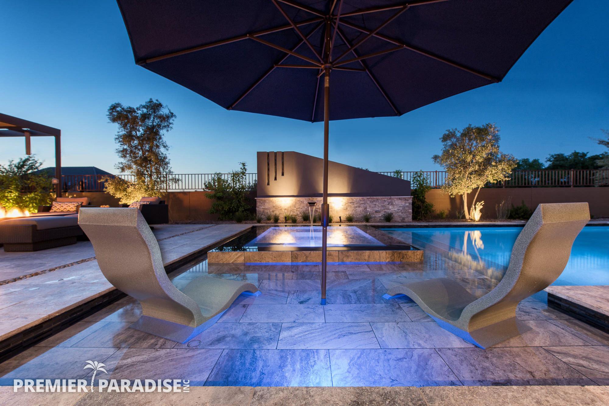 Modern Perimeter Overflow Spa Amp Luxury Outdoor Living