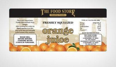 Food Store Label
