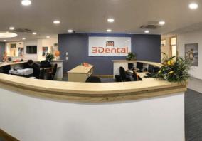 3 Dental Illuminated Reception Desk Sign