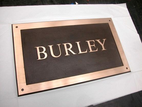 Burley - Bronze Plaque
