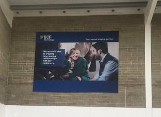 Interior Signage - BCF Technologies - Banner on Frame