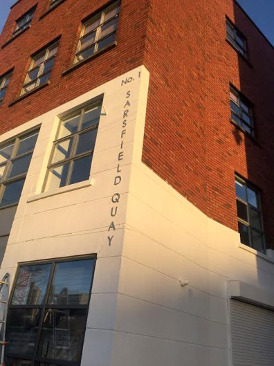 Sarsfield Quay Stainless Steel Lettering