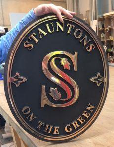 Stauntons On The Green Bronze Plaque