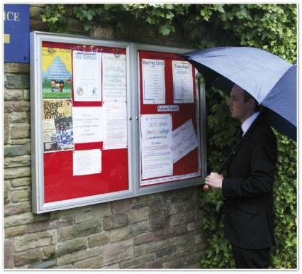doube Outdoor Notice Board