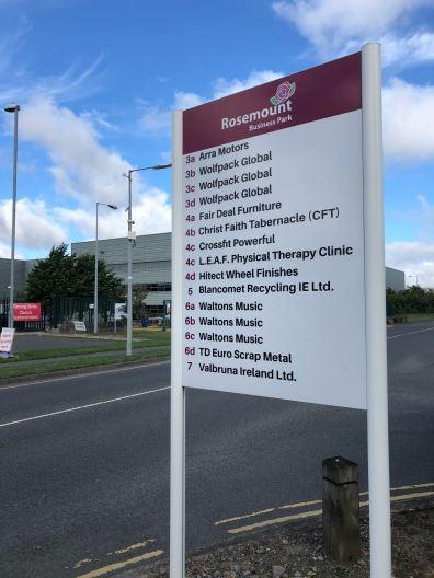 Freestanding Industrial Sign