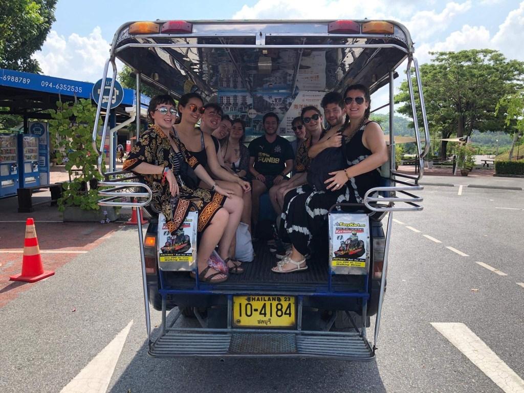 TEFL Teachers in the back of a van 1024x768 - English teaching in Thailand - Meet Taryn Beasley