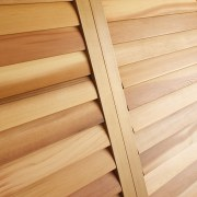 Western Red Cedar Plantation Shutters (Closed)