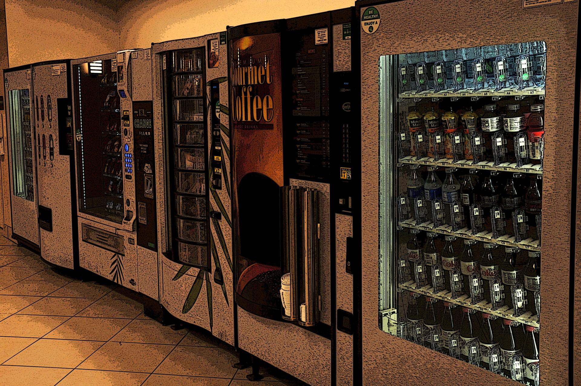 Premio Darwin con una máquina de Vending