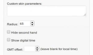Image #3: CoolClock widget settings - Radius