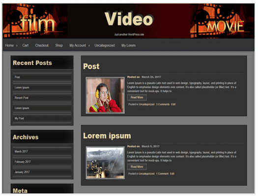 Seos video theme
