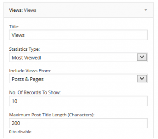 Widget settings.