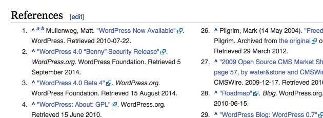 Wikipedia external links