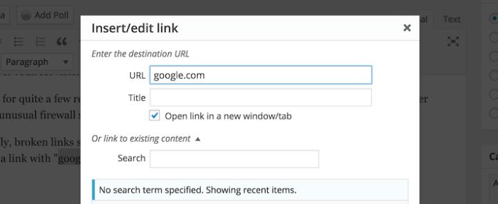 Lien vers google.com