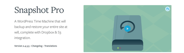 Our backup plugin, Snapshot, includes site restoration.