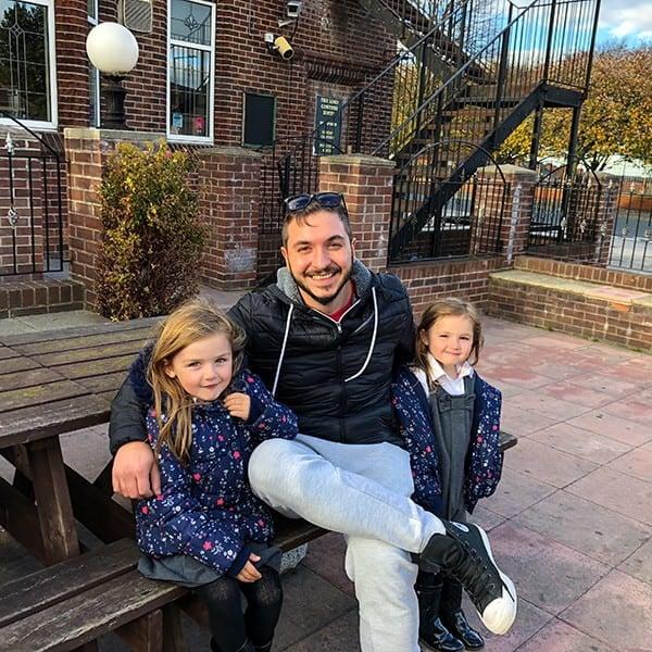 Bojan with Tim's girls