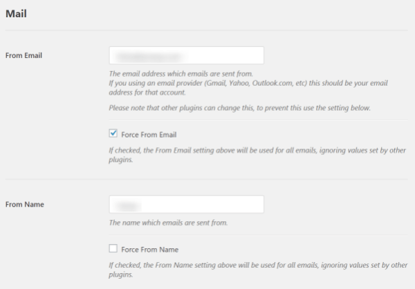 Screenshot of WP Mail SMTP Plugin Settings