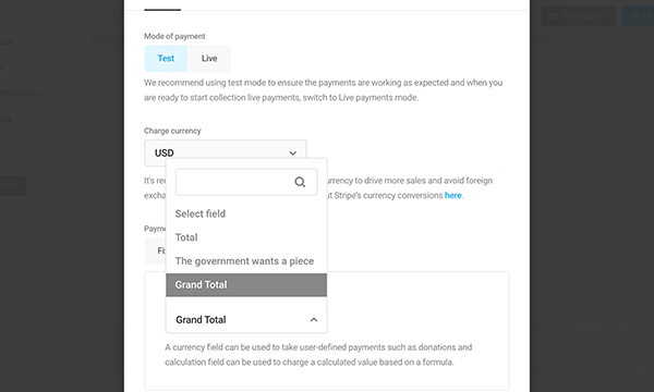 Use calculations to set variable payments.