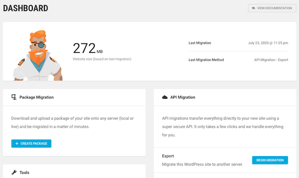 A look at Shipper's new and improved WordPress dashboard